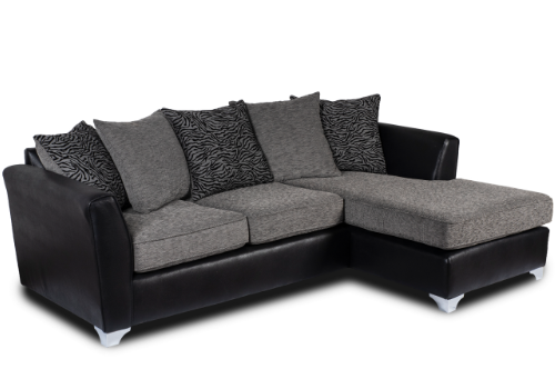 Aria Grey Chaise Sofa