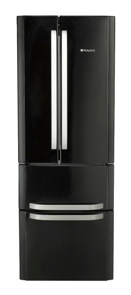 Hotpoint Quadrio 70cm Black Fridge Freezer