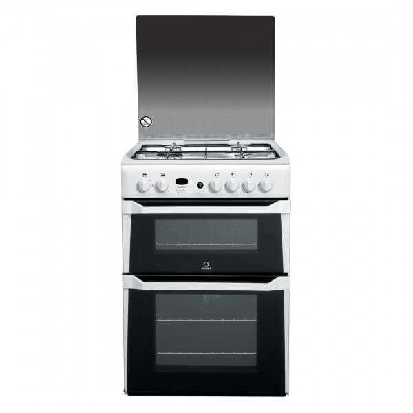 Indesit 60cm White Gas Cooker