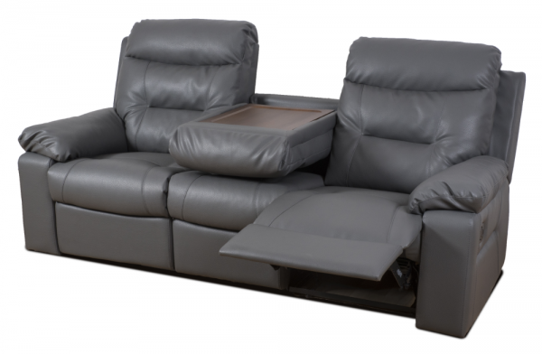 Maxwell Grey 3 Seater Recliner