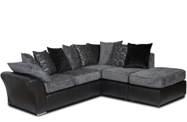 Grayson Grey Corner Sofa | PerfectHome