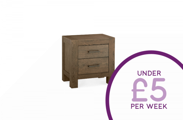 Darcey 2 Drawer Bedside Table
