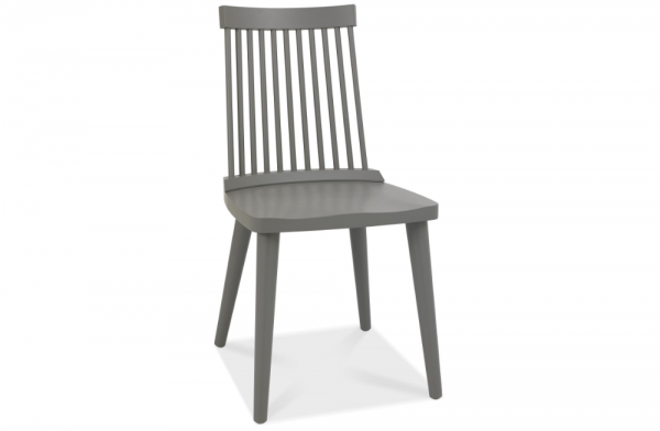 Olivia Spindle Chair Dark Grey Pair