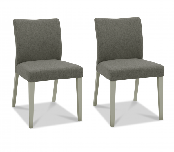 Brooke Upholstered Fabric Chair Pair