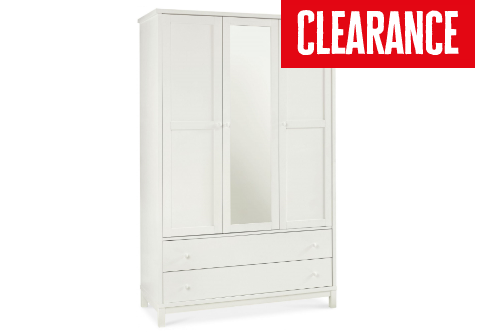 Warrick White Triple Wardrobe