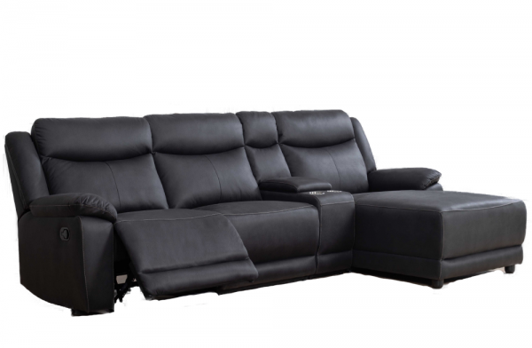 Falcon Black Recliner Chaise