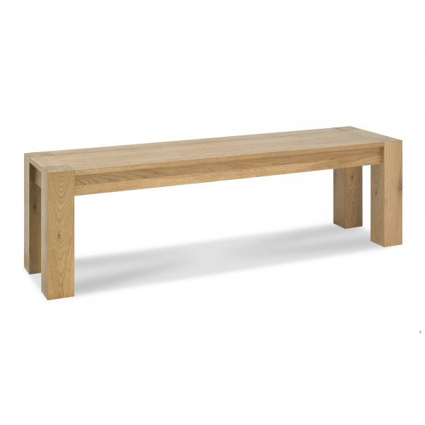 Lucie Oak Small Bench