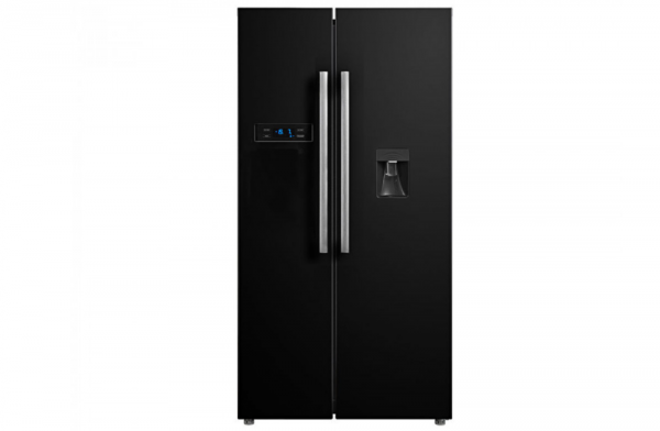 Montpellier 95cm Black American Fridge Freezer