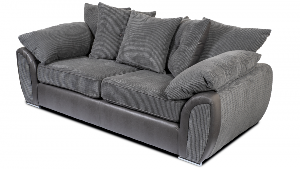 Lexi Grey 3 Seater Sofa
