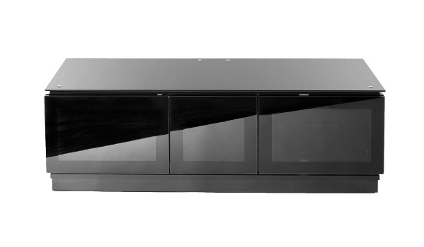 1350 Black Gloss TV Cabinet