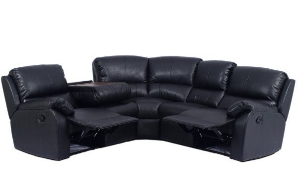 cassis black recliner corner sofa perfecthome rh perfecthome co uk