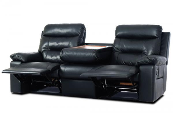 Jackson Black 3 Seater Recliner | PerfectHome