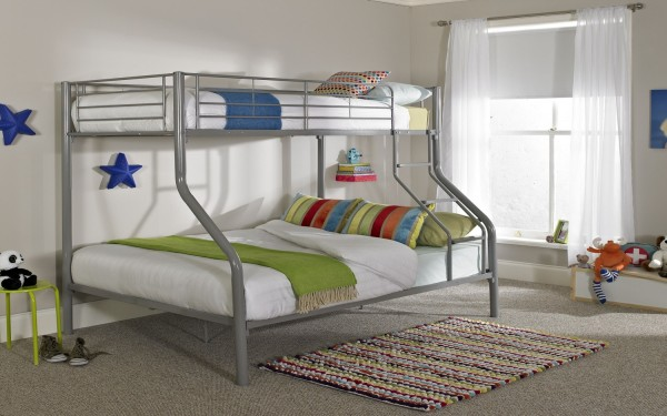 Triple Bunk Bed Silver