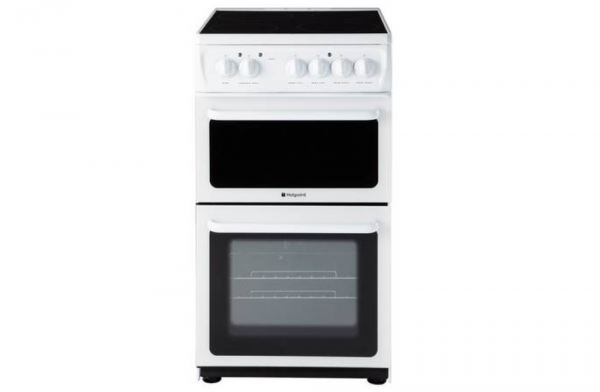 Hotpoint 50cm White Electric Cooker