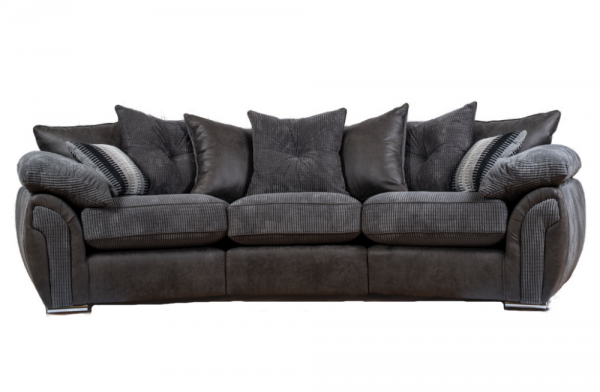 Majestic Grey Curved Sofa
