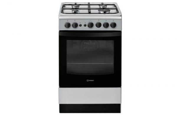 Indesit 50cm Silver Gas Cooker