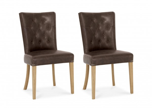 Ainsley Upholstered Faux Leather Chair Pair