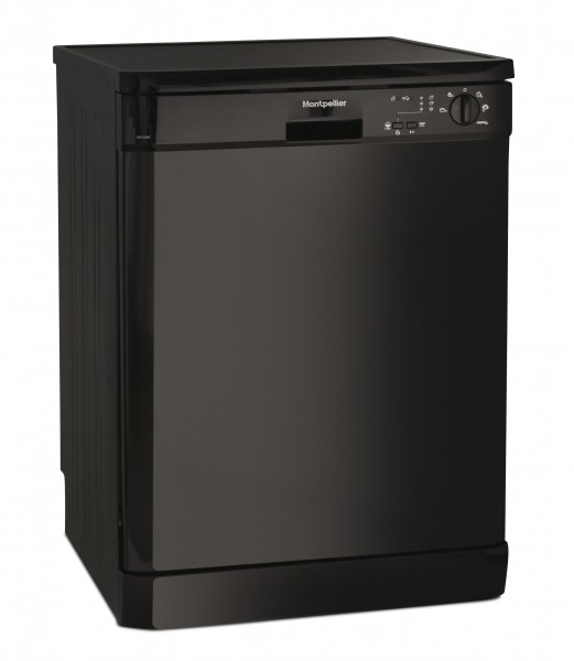 Montpellier 5 Programme Black Dishwasher