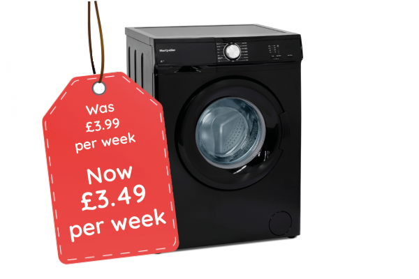 Montpellier 5kg Black Washing Machine