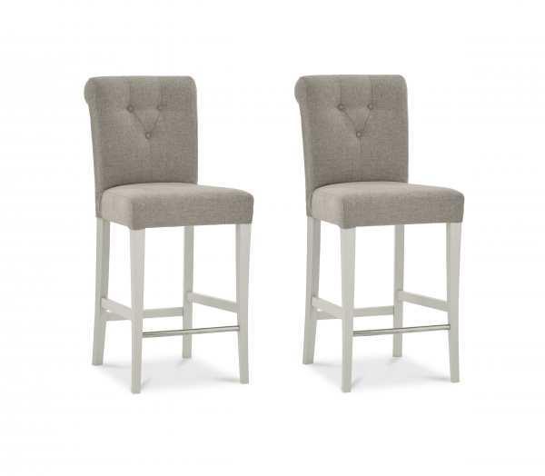 Madison Leather Bar Stool Pair