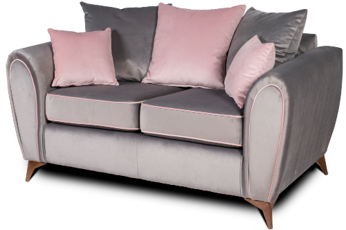 Valentine Grey 2 Seater Sofa