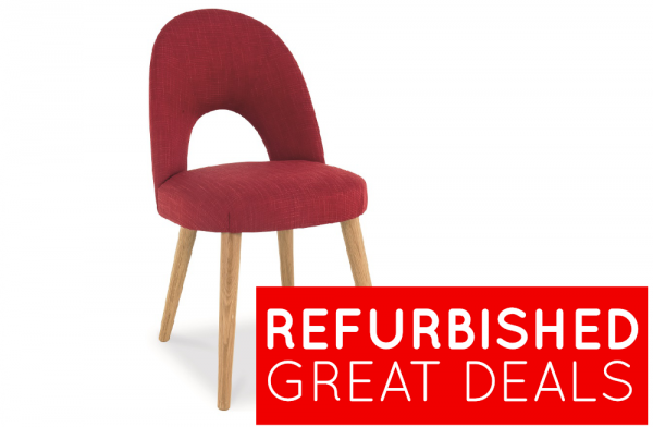 Refurbished Oslo Red Upholstered Dining Chair