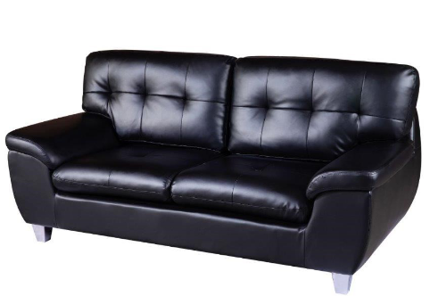 Albie Black 3 Seater Sofa
