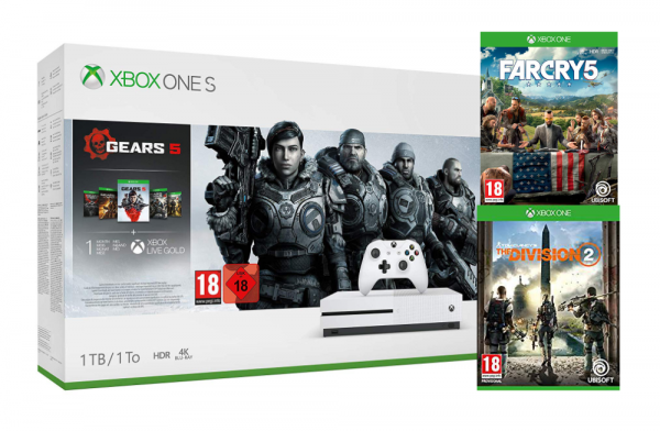 Xbox One S 1TB Gears 5 Bundle + The Division 2 + FarCry5