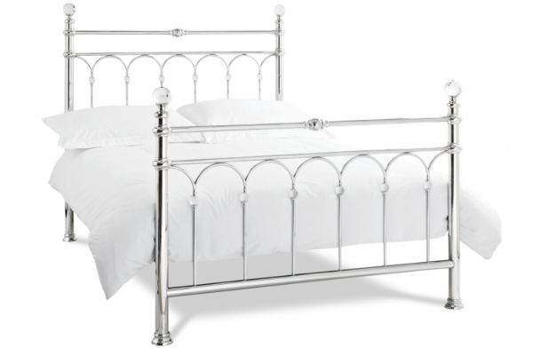 Laila Shiny Chrome Double Bed