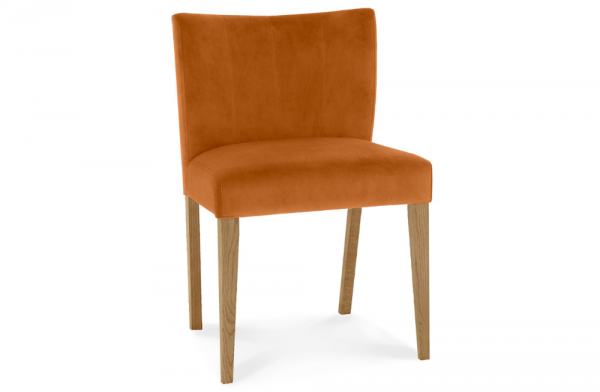 Lucie Low Back Upholstered Chair Harvest Pumpkin Pair