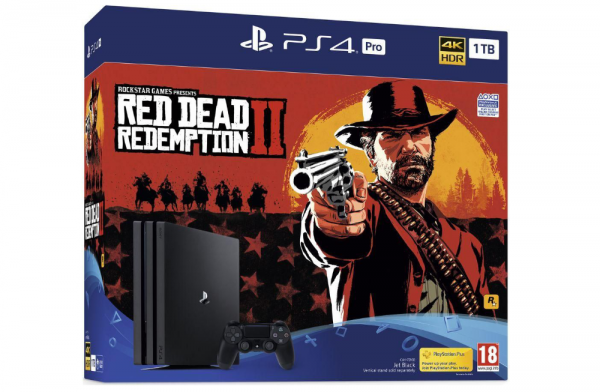 PS4 PRO 1TB Red Dead Redemption 2