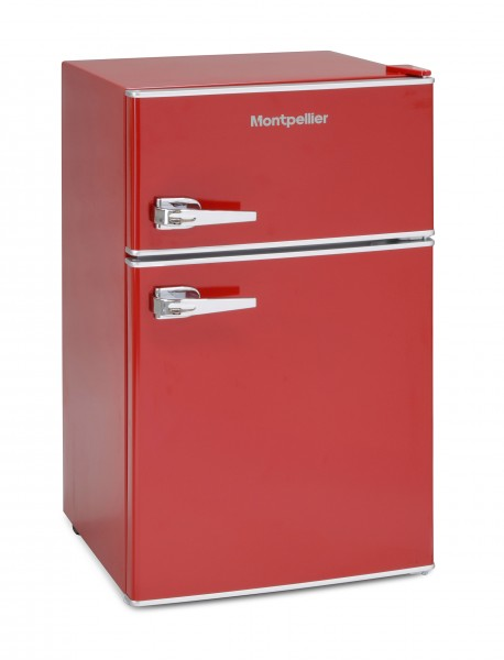 Montpellier Mini Retro Red Fridge Freezer