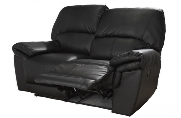 Mississippi Black 2 Seater Recliner
