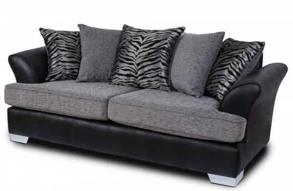 Quartz Grey 3 Seater Sofa