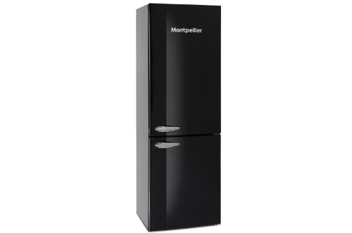Montpellier 60cm Black Fridge Freezer MAB386K