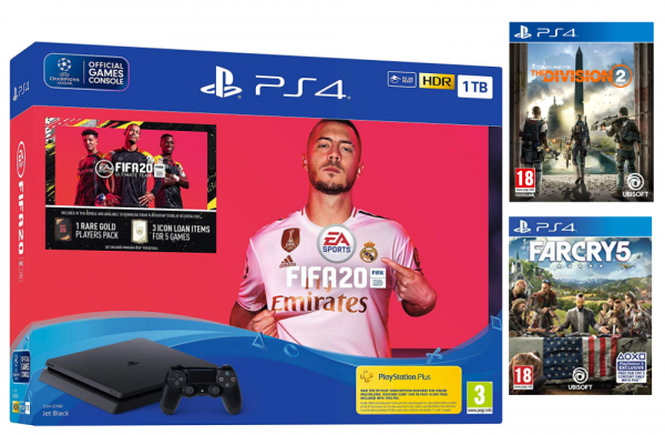 PS4 1TB Fifa 20 Bundle + The Division 2 + FarCry5