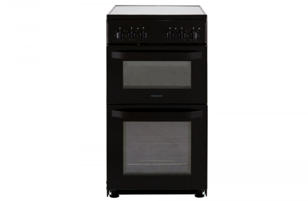 Hotpoint 50cm Black Electric Cooker