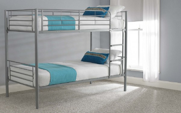 Single Bunk Bed Silver Frame