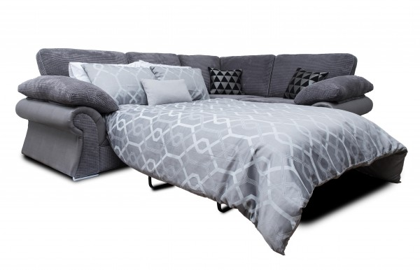 Valencia Grey Corner Sofa Bed