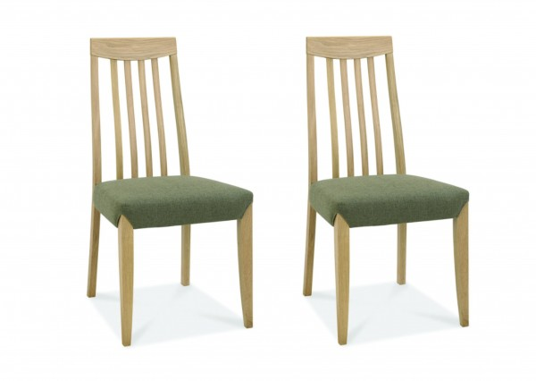 Eden Oak Slat Back Chair Pair