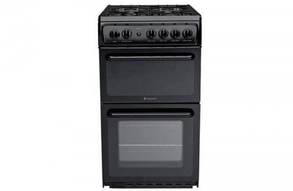 Hotpoint 50cm Black Gas Cooker