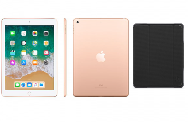 Apple iPad 9.7 32GB Gold 6th Gen Bundle