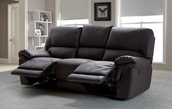 Mississippi 3 Seater Brown
