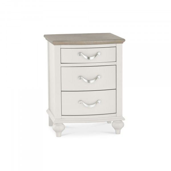 Giselle 3 Drawer Bedside Table