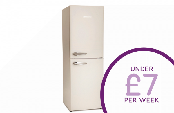 Montpellier 50cm Cream Fridge Freezer