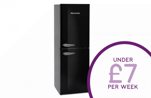 Montpellier 50cm Black Fridge Freezer