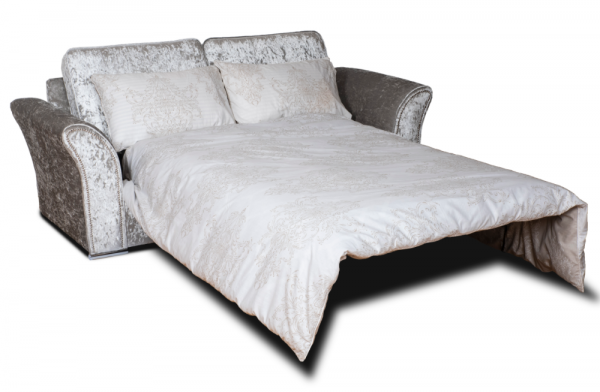 Crystal Silver 3 Seater Sofa Bed