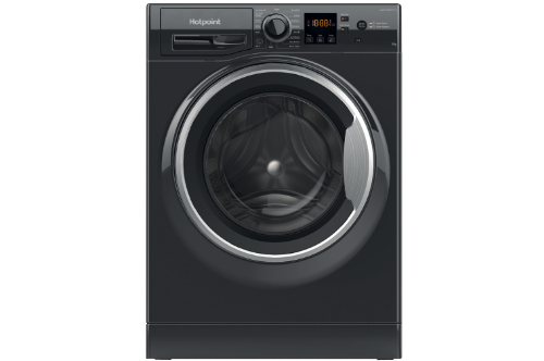 Hotpoint 8kg Black Washing Machine NSWM843CBSUKN