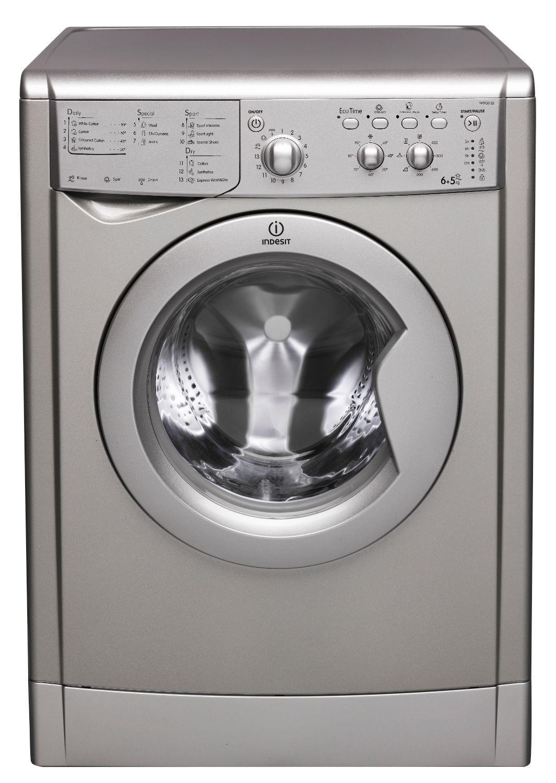indesit 6 5kg silver washer dryer perfecthome. Black Bedroom Furniture Sets. Home Design Ideas