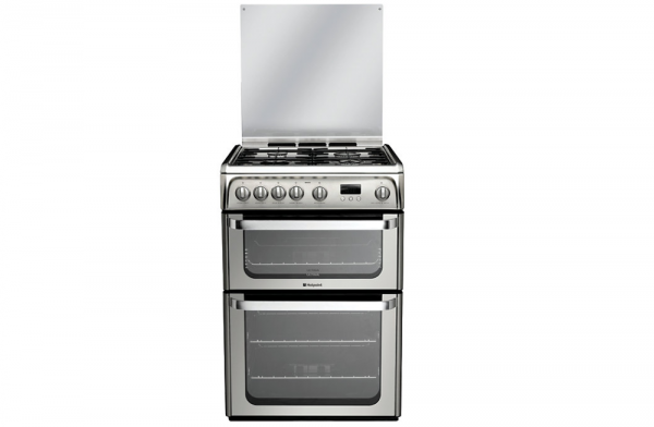 Hotpoint 60cm Stainless Steel Gas Cooker
